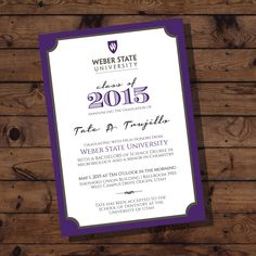 ASU Graduation Announcements & Reception Invitation - DIGITAL by ...