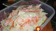 Kipróbált Coleslaw saláta recept egyenesen a Receptneked. Cabbage Salad, Hungarian Recipes, Cooking Recipes, Healthy Recipes, Coleslaw, Fresh Rolls, Potato Salad, Cake Recipes, Food And Drink