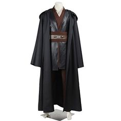 cosplaydiy mens outfit for star wars anakin skywalker costume with robe l