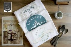 Wedding Gift, Newly Weds,Wedding Gift,Custom Towels,New Home Gift,Bridal Shower Towels,Kitchen Towels,Dish Towels,Flour Sack Towels,Towels by ModernVintageMarket on Etsy https://www.etsy.com/listing/506441667/wedding-gift-newly-wedswedding