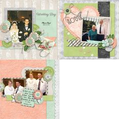 GingerScraps :: Templates :: Wedding Day - 12x12 Temps (CU Ok)