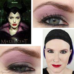 Maleficent Inspired Makeup Tutorial. Pin now, play later!   Phyrra used Saucebox Cosmetics, Sugarpill Cosmetics and Illamasqua Cosmetics.