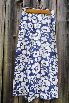 Beautiful Blue Blooming Bell Bottoms Vintage 60s by 2cutevintage