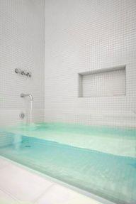 Doorzichtig bad