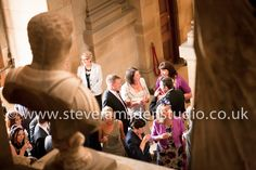 Wedding guests at Castle Howard