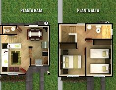Waterfall For Home Decoration Key: 2463043755 Small House Floor Plans, Home Design Floor Plans, Style At Home, Small Apartment Plans, Minecraft Houses Blueprints, Moraira, Small House Design, House Layouts, Shed Plans