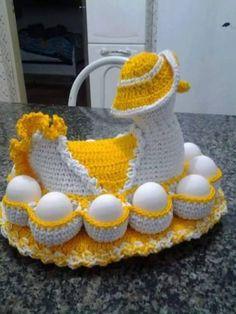 Örgüden yumurtalık yapımı | Örgü Modelleri - Örgü Dantel Modelleri