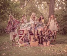 Ensaio fotográfico: Not So Dirty Hippies ~ De volta ao retrô