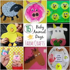 15 Baby Animal Days Farm Crafts  via I Heart Crafty Things. Adorable crafts to make after attending a Baby Animal Days or field trip to the Farm.