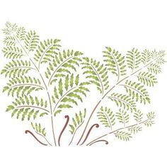 Tree Fern Stencil