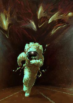 """Dreams in Cosmos"" Aleksey Litvishkov is a digital artist from Saint Petersburg, Russia. Arte Dope, Retro Poster, Astronauts In Space, Gif Animé, Science Fiction Art, Art Graphique, Sci Fi Art, Vampires, Aliens"