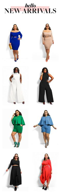 New dresses, skirts, crop sets, jumpsuits and more from Monif C. Plus Size Clothing. Shop these must-have styles before they are gone!