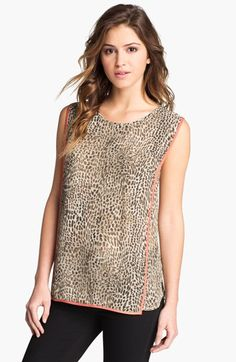 Vince Camuto Cheetah Print Blouse available at Nordstrom