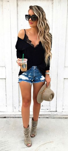 Best 40 Women Fashion Casual Outfit For Fall Season - Ready To Meal Cozy Winter Outfits, Fall Outfits, Casual Outfits, Chai, Spring Summer Fashion, Autumn Winter Fashion, Fall Winter, Denim Shorts Style, Sweater And Shorts
