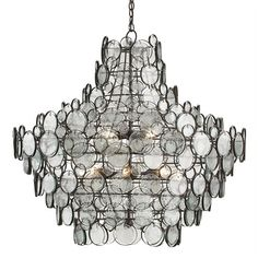 Galahad Chandelier | Currey and Company at Lightology