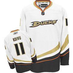 78d1029ec Premier Teemu Selanne White Men s NHL Jersey  Anaheim Ducks Reebok Away. NHL  Hockey Jerseys