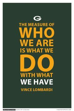 Vince Lombardi Green Bay Packers Inspirational 2nd Place Quote