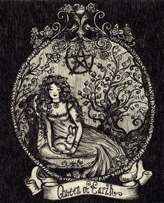 The Queen of Earth by ArtbyLadyViktoria on Etsy