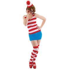 Where's Waldo Adult Halloween Costume