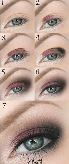 45 Trendy Makeup Eyeshadow Simple Make Up Smokey Eye Makeup, Makeup Eyeshadow, Makeup Brushes, Easy Smokey Eye, Smokey Hair, Red Smokey Eye, Hair Makeup, Eyeliner Make-up, Makeup Inspo
