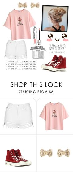 """Wanting~"" by deep-quotes ❤ liked on Polyvore featuring Topshop, Converse and Christian Dior"