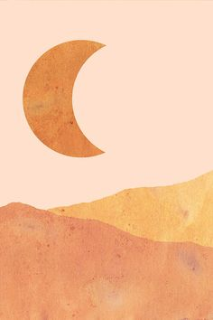 Crescent And Dunes Art Print by Whales Way Wall Prints, Canvas Prints, Dune Art, Illustration Art, Illustrations, Minimalist Art, Minimalist Wallpaper, Minimalist Bedroom, Diy Canvas Art