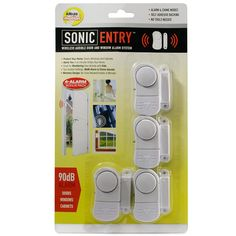 """Product Features3-Position switch: Alarm, Off, & ChimeInstalls in a secondPiercing 90dB alarm shriekMeasures 2 1/2"""" H x 1"""" W x 1/2"""" DThese mini magnetic alarms can be your first line of defense against intruders. Simply place these alarms on a window or door on your property. When someone opens the window or door, the alarm will ring a loud 90 dB alarm tone. Other than alerting you of intruders, this alarm can also serve many other functions &n..."""
