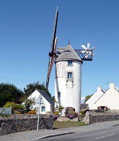 Le moulin de Kerbroué à La Turballe, Bretagne