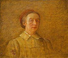 Phoebe Anna Traquair, 1852 - 1936. Artist (Self-portrait)