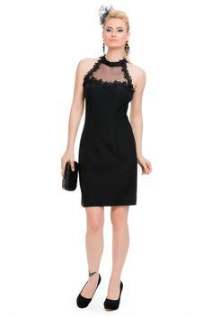 Kısa Siyah Abiye Elbise C8025