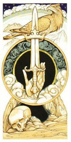 Daniloff Tarot: Ace of Swords by Alexander Daniloff 2012