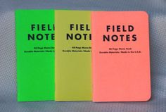 a608662cbda Field Notes Neon Ice Pops Edition Unsealed Notebook 3-Pack