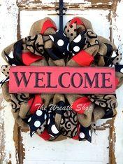 Burlap Welcome Wreath