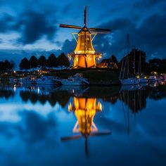 Windmill by Bas Meelker.    #photography #windmill #bas_meelker