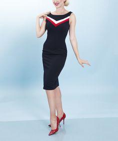 This Tatyana Navy Rock the Boat Dress - Women & Plus by Tatyana is perfect! #zulilyfinds