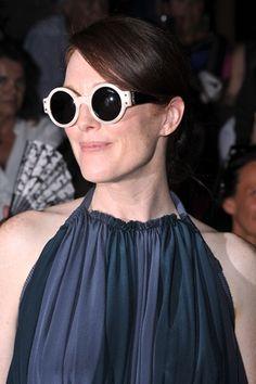 0cd935f6b4 Julianne Moore Lanvin sunglasses White Sunglasses
