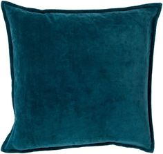 Surya CV-004 Square Indoor Decorative Pillow with Down or Polyester Filling from