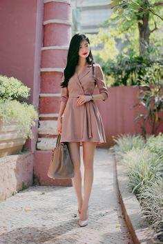 milkcocoa(MT) F/W daily 2017 feminine& classy look - Her Crochet Korean Fashion Dress, Korean Dress, Korean Outfits, Asian Fashion, Unique Fashion, Girl Fashion, Fashion Dresses, Womens Fashion, Fashion Ideas