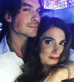 Ian Somerhalder with his wife (Nikki Reed).