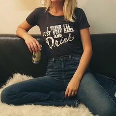 """Current mood after IKEA desk building disaster... """"I think I'll just stay here and drink""""  These tees have been restocked online www.shopelectricwest.com #electricwest #banditbrand #currentmood #beerme"""