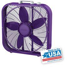 """Walmart: Lasko Cool Colors 20"""" Box Fan, Purple  B20303"""