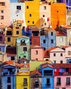 Things to do in Sardinia - We needed more colours in our lives, so we headed to Bosa, beautiful village in - Colourful Buildings, Beautiful Buildings, Beautiful Places, Venice Travel, Italy Travel, Italy Vacation, Places To Travel, Places To Go, Travel Destinations