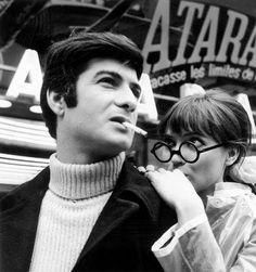 """Anna"" de PierreKoralnik avec Jean Claude Brialy et Anna Karina, le 3 mars 1966"