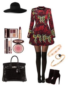 """""""upper east side autumn outfit"""" by j-adore-elegance ❤ liked on Polyvore featuring Marc by Marc Jacobs, Christian Louboutin, Hermès, Eugenia Kim, Gucci, Cartier and Charlotte Tilbury"""