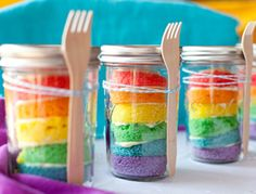 Easy DIY Rainbow Cupcakes in Mason Jars | Recipe Tutorial