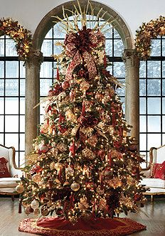 navidad victorian christmas treedecorated - Decorative Christmas Trees