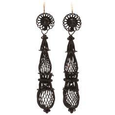 Dreamweaver Berlin Iron Earrings | From a unique collection of vintage chandelier earrings at https://www.1stdibs.com/jewelry/earrings/chandelier-earrings/