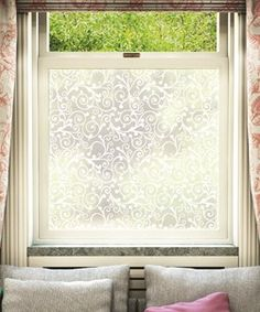 Frosted Gl Overlay Alternative To Net Curtains In Bedroom