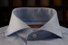 Light Blue Dress Shirt with Cutaway Collar — De Oost Bespoke Tailoring