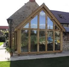 Yorkshire Oak Frames - Galler Something not working here? Pole Barn House Plans, Pole Barn Homes, Garden Room Extensions, House Extensions, Blenheim House, Roof Design, House Design, Oak Framed Extensions, Riverside Cottage